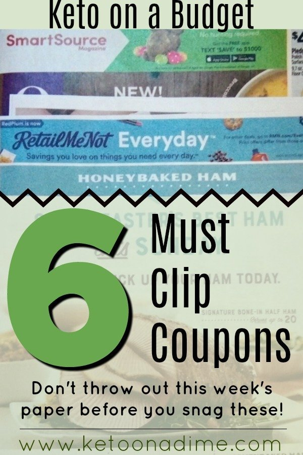 Keto Coupons to Clip from this week's paper!