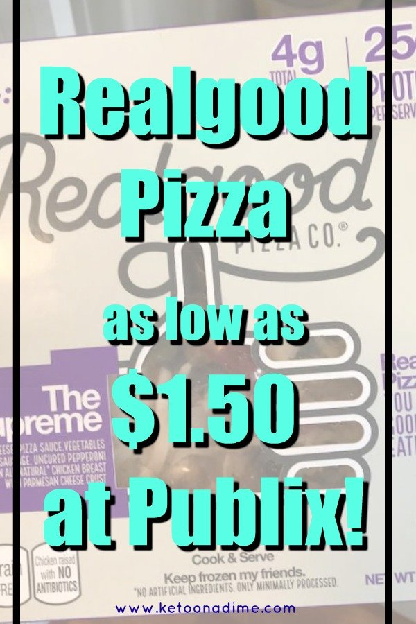 Realgood Pizza as low as $1.50 at Publix!