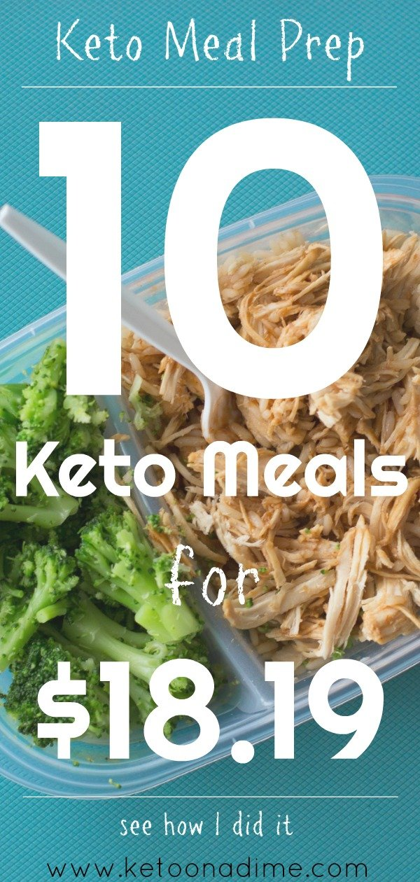 Keto Meal Prep on a Budget: 10 Meals for $18.19