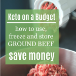how to store ground beef