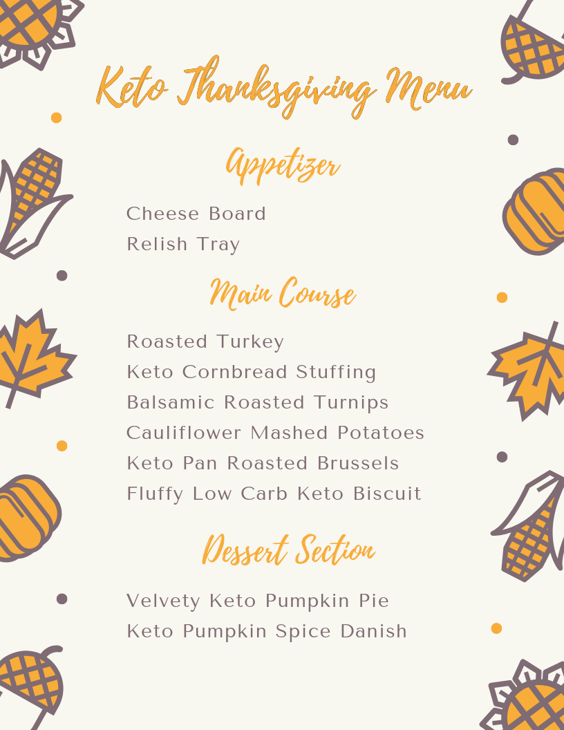 Keto thanksgiving dinner menu
