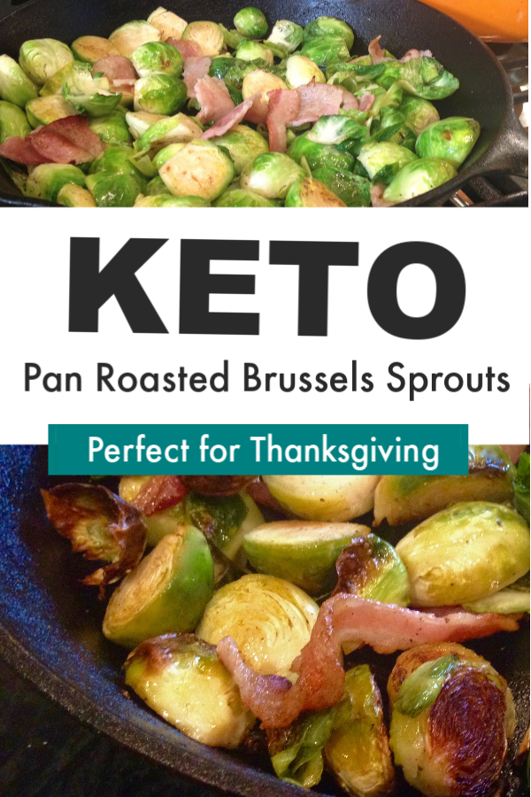 Keto Pan Roasted Brussels Sprouts
