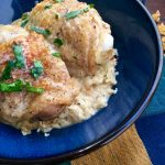 """Pickle-Braised Chicken Thighs with Cauliflower """"Rice"""""""