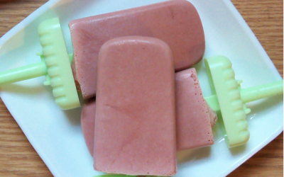 Keto Chocolate covered Strawberry Popsicles