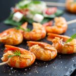 Plump and juicy shrimp, seasoned well, slightly spicy and spiked with tequila. This easy keto shrimp recipe will quickly become a summer favorite. Great for a weeknight dinner, a family barbecue or any get together.